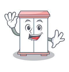 waving cabinet character cartoon style vector image