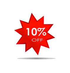 10 off sale discount banner special offer vector image