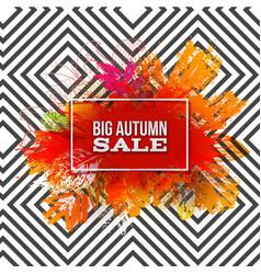 autumn foliage sale on pattern vector image vector image