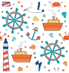 Colorful sea pattern vector image vector image
