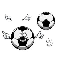 Football or soccer ball sporting mascot cartoon vector image vector image