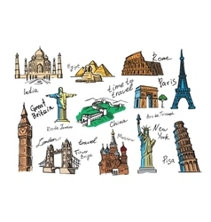 hand drawn travel vector image vector image