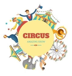 Round Circus Composition vector image
