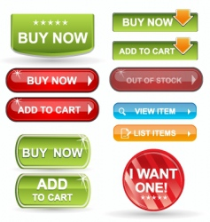 web icons buy items vector image vector image