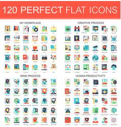 120 complex flat icons concept symbols of vector