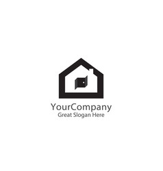 abstract house logo icon design home sign concept vector image
