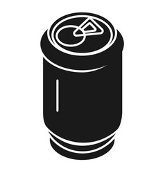 aluminum soda can icon simple style vector image