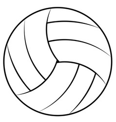 Ball for playing beach volleyball vector