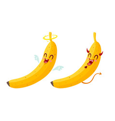 banana is like an angel and devil vector image