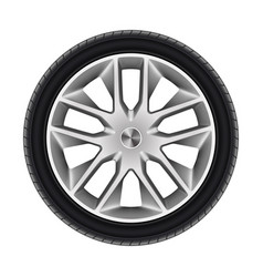 black tyre or isolated car tire wheel car vector image