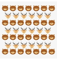 Brown bear icon image vector