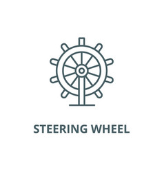 business steering wheel line icon vector image