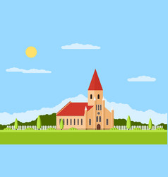 Catholic church building vector