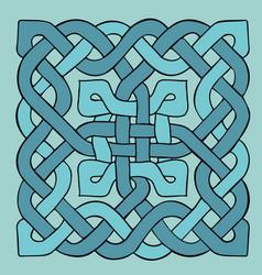 Celtic blue pattern scandinavian ornament ribbon vector