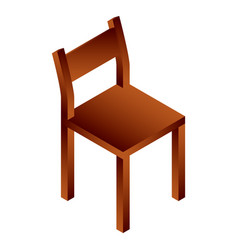 chair house icon isometric style vector image