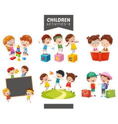 Children activities set vector