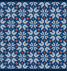 Christmas and new year traditional knitted vector