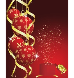 christmas new year card vector image