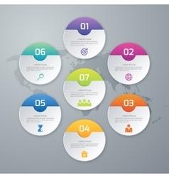 circles infographics vector image