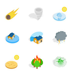 Civilization negative effects icons vector