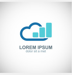 cloud data business logo vector image