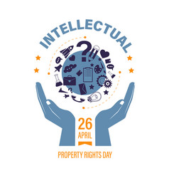 copyright or intellectual property right day vector image