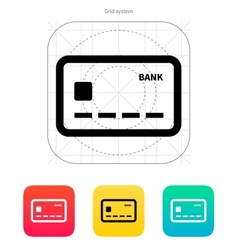 Debit card icon vector