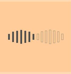 digital signal dark grey set icon vector image