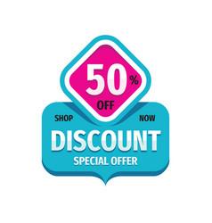 Discount 50 percent off - concept banner design vector