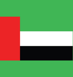 Dubai flag official colors and proportion vector