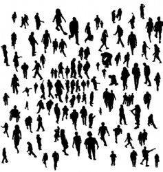 everyday people vector image