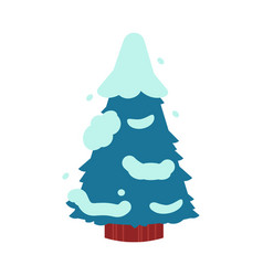 fir-tree covered with snow vector image