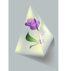 Flower and Pyramid vector