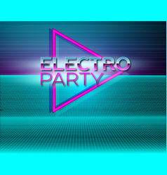 futuristic background 80s style retro party vector image