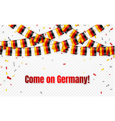 germany flags garland on transparent background vector image