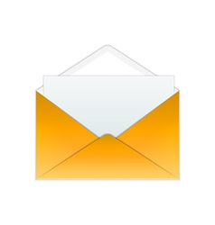 Gold envelope and paper vector