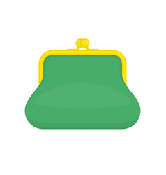 Green purse vector