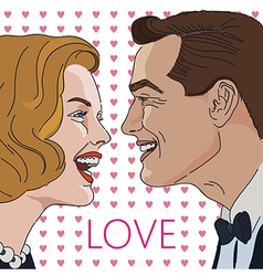 Greeting card for Valentine Day with couple vector