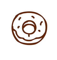 Hand Drawn Donut vector