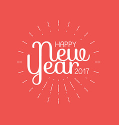 happy new year 2017 lettering greeting card vector image vector image