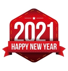 Happy New Year 2021 vector image