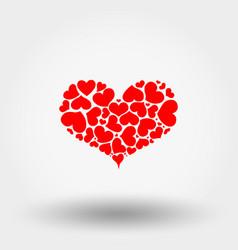 heart hearts icon flat vector image