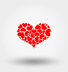 heart of hearts icon flat vector image