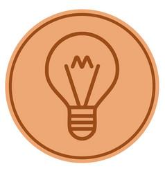Hint lamp bronze coin vector