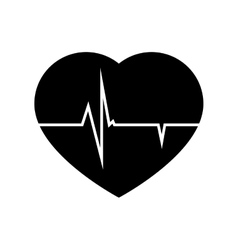 icon cardio heart pulse isolated vector image
