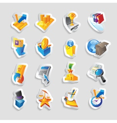 Icons for business and finance vector