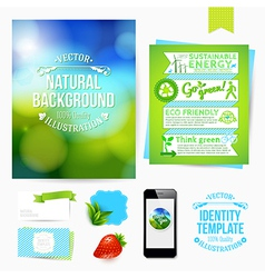 Identity design for Your business Eco friendly vector