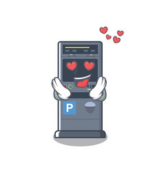 in love parking vending machine isolated the vector image