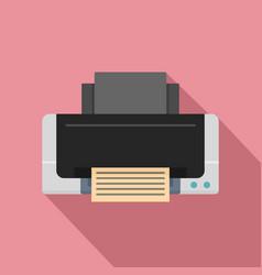 Inkjet printer icon flat style vector