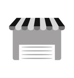 Internet store shopping market gray color vector
